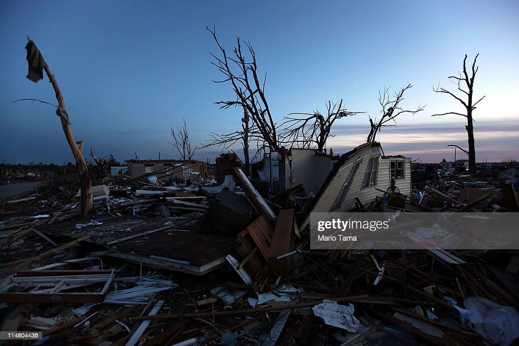 Destroyed homes are seen after a massive tornado passed through the town killing at least 126 people on May 26, 2011 in Joplin, Missouri. The town continues the process of recovering from the storm which damaged or destroyed an estimated 8,000 structures.
