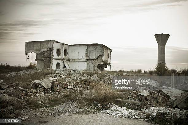 Destruidas residence después del terremoto