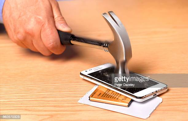 Destruction of smart phone