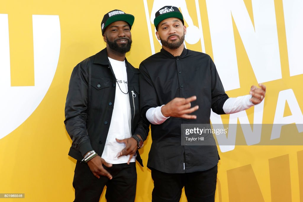 Desus and The Kid Mero attend the 2017 NBA Awards at Basketball City - Pier 36 - South Street on June 26, 2017 in New York City.