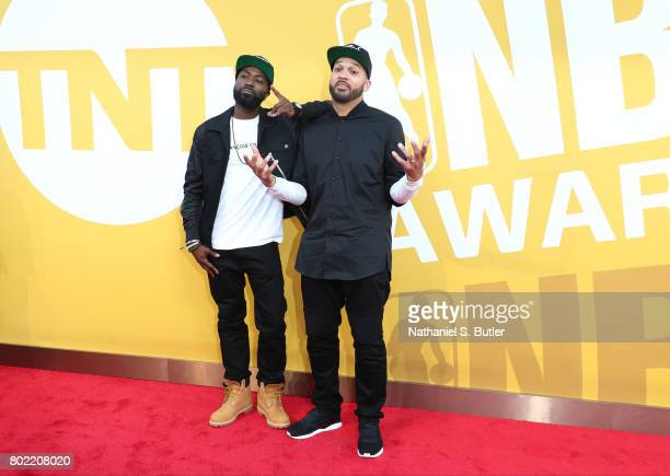 Desus Nice and The Kid Mero aka the Bodega Boys arrives at the red carpet at the NBA Awards Show on June 26 2017 at Basketball City at Pier 36 in New...