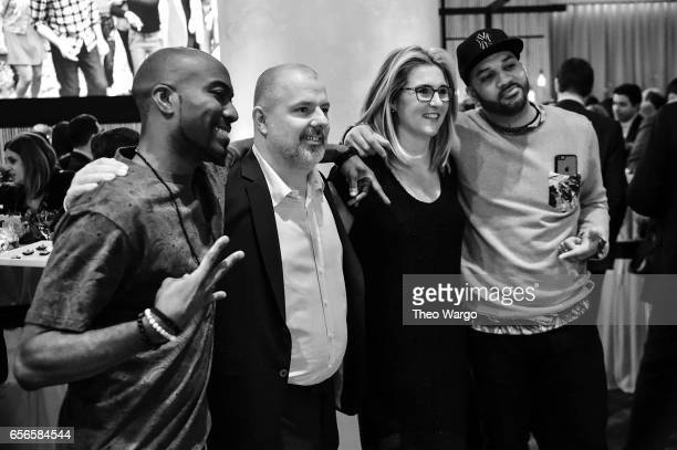 Desus Nice General Manager VICELAND at VICE Media Guy Slattery President and Chief Executive Officer AE Networks Nancy Dubuc and The Kid Mero attend...