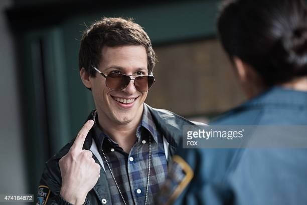 Det Peralta displays his cool new look in hopes of impressing Det Dave Majors in 'Det Dave Majors' episode of BROOKLYN NINENINE airing Sunday May 3...
