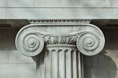 Detail an ionic column