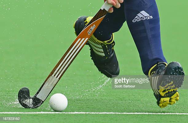 A detail as a player dribbles the ball during the match between England and Germany during day two of the Champions Trophy on December 2 2012 in...