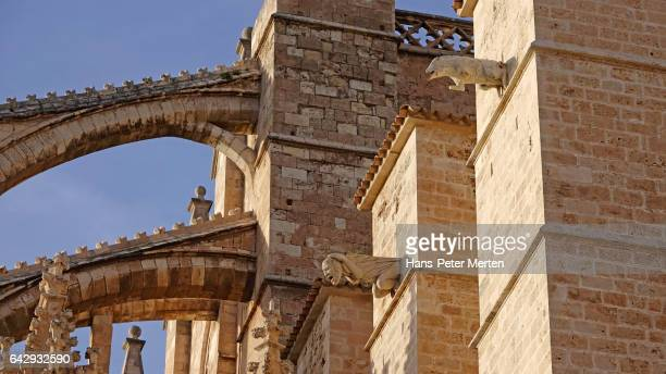Detail at La Seu Cathedral, Palma de Mallorca, Majorca, Balearic Islands, Spain