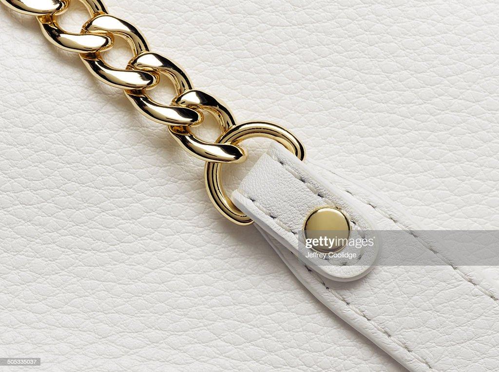 Detail Chain on Leather Handbag