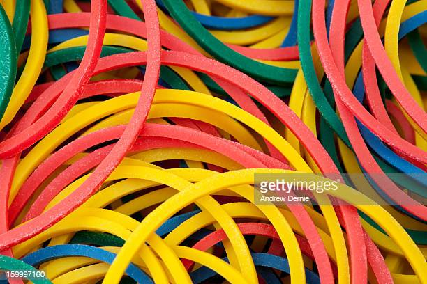 Detail Close-up of Rubber Bands