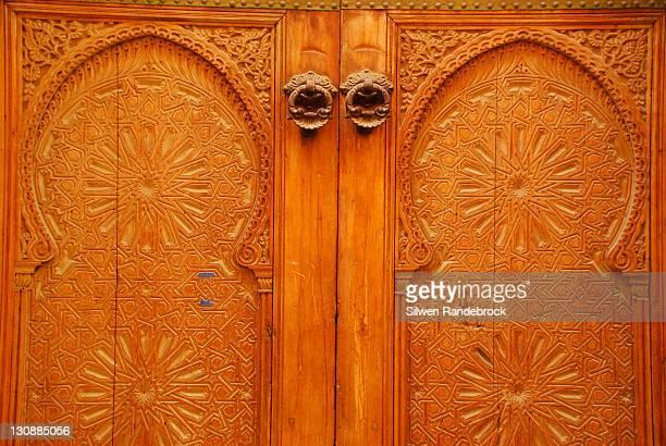 Detail entrance door Fez Morocco