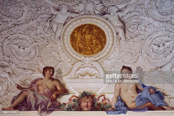 Detail from a fresco by Carlo Maratta and Ciro Ferri in the Summer Hall at Villa Falconieri La Rufina Frascati Italy 17th century