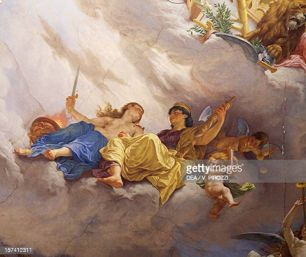 Detail from the Allegory of Italy fresco by Cesare Mariani ceiling Hall of the Majority Palazzo delle Finanze Rome Italy 19th century