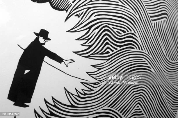 A detail from the artwork for the cover of Radiohead frontman Thom Yorke's first solo album entitled 'The Eraser' designed by artist Stanley Donwood...