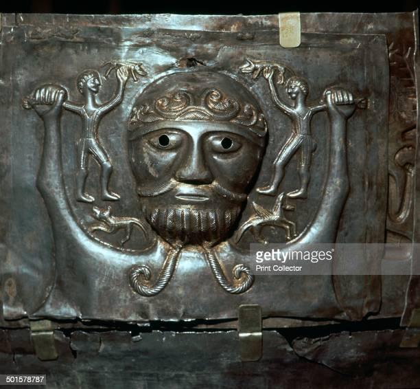 Detail from the Gundestrop Cauldron a Celtic silver ritual cauldron depicting a Celtic deity 3rd century