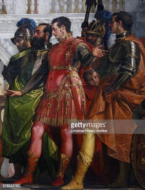 Detail from the painting titled 'The Family of Darius before Alexander' by Paolo Veronese an Italian Renaissance painter Dated 16th Century