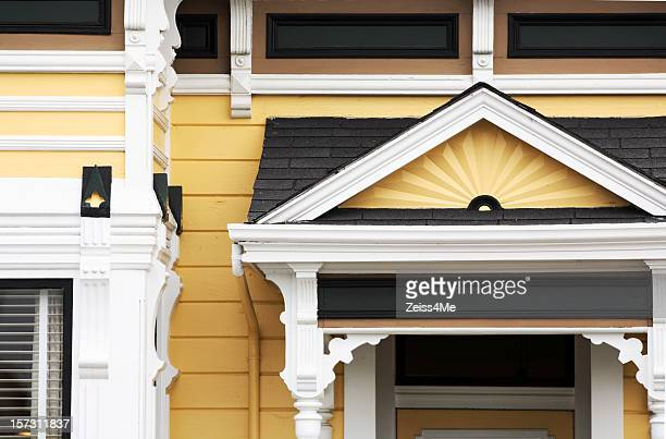 Detail from yellow Victorian house