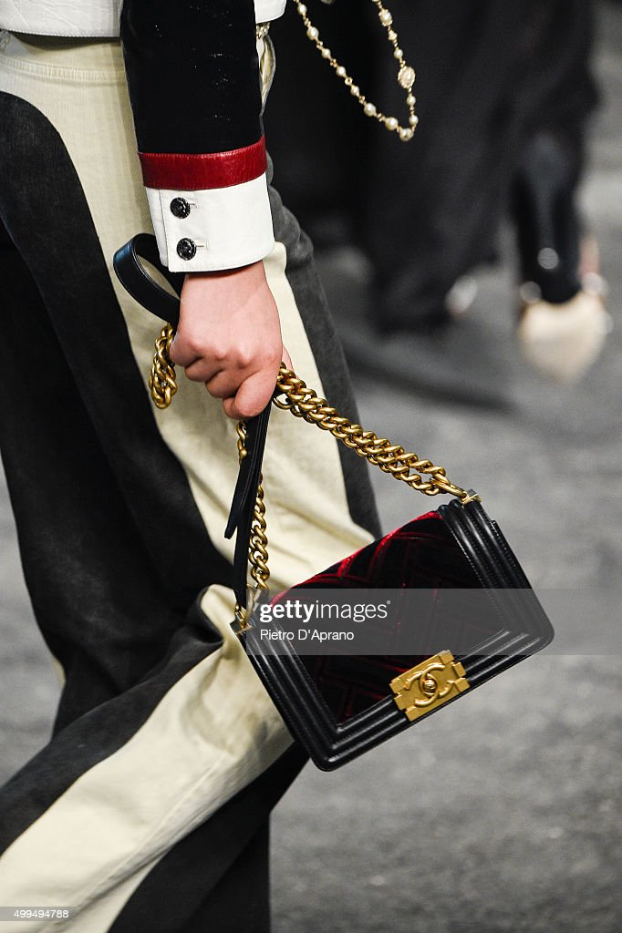 A detail is seen on the runway during the Chanel Metiers d'Art 2015/16 Fashion Show at Cinecitta on December 1 2015 in Rome Italy
