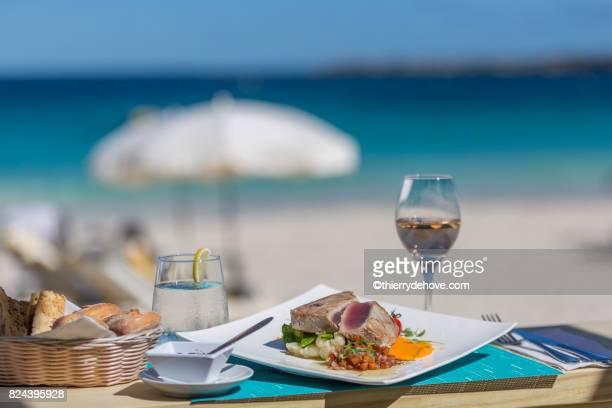 Detail lunch, dessert from Orient Bay in Saint Martin