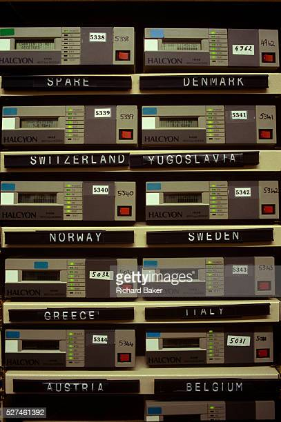 A detail of 1990s technology at the European Centre for MediumRange Weather Forecasts Reading UK ECMWF is an international organisation supported by...