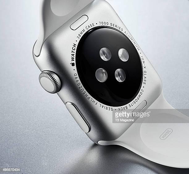 Detail of a 2015 Apple Watch Sport taken on April 24 2015