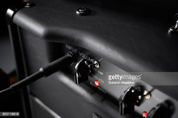 Detail of a Bad Cat USA Player Series Cub III 5R combo amplifier taken on July 11 2016
