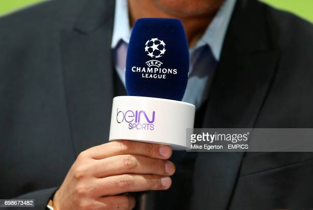 Detail of a Bein Sports UEFA Champions League microphone