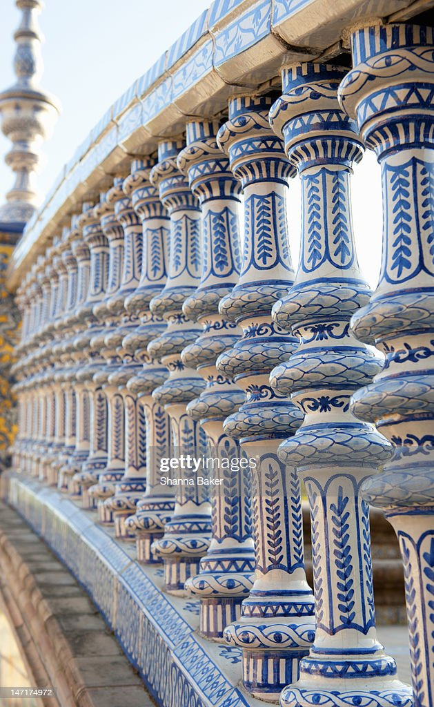 Detail of a bridge at Plaza de Espana, Seville : Stock Photo