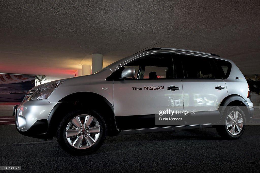 Detail of a car during the presentation of Team Nissan for Rio de Janeiro Olympics Games 2016 at Cine Lagoon on November 27, 2012 in Rio de Janeiro, Brazil.