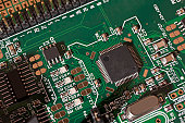 Detail of a circuit board