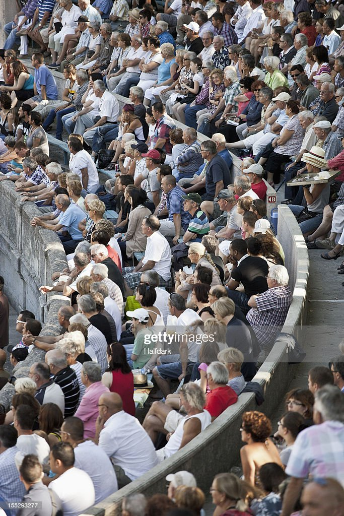 Detail of a crowd in a sports arena : Stock Photo