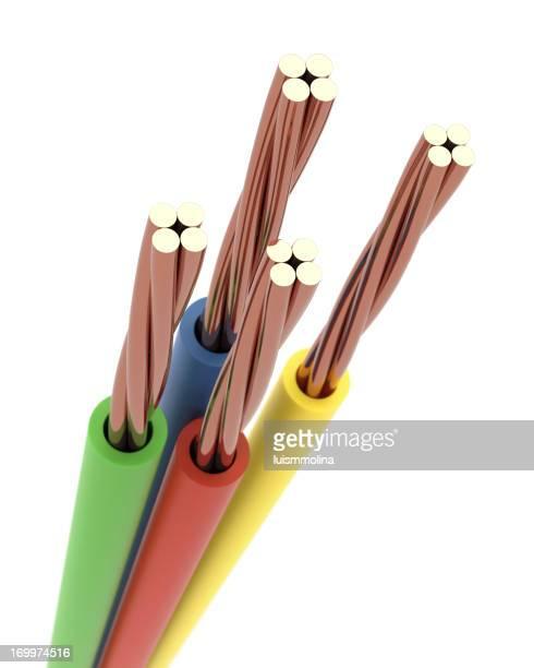 Detail eines Elektrische Kabel