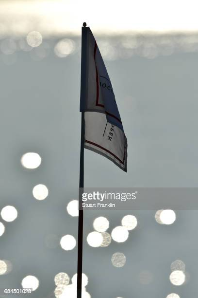 Detail of a flag stick during the first round of the Rocco Forte Open at Verdura Golf and Spa Resort on May 18 2017 in Sciacca Italy