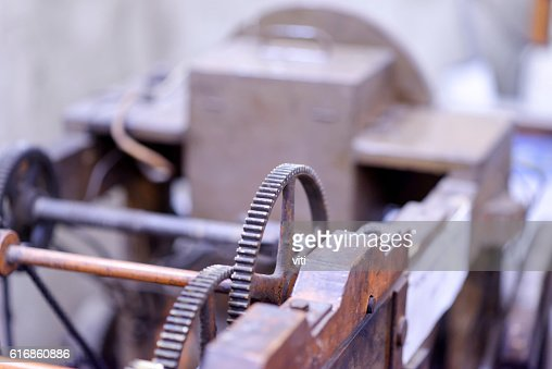detail of a grunge gear : Stock Photo