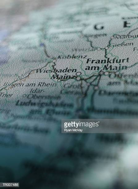 Detail of a Map of Germany