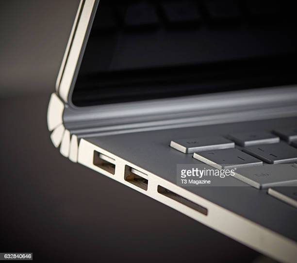 Detail of a Microsoft Surface Pro laptop computer taken on June 10 2016