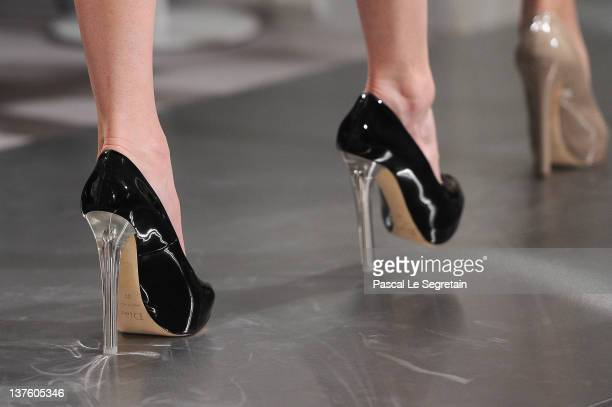 A detail of a model is seen as she walks the runway during the Dior HauteCouture 2012 show as part of Paris Fashion Week at Salons Christian Dior on...