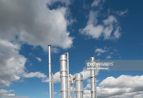 Detail von einer modernen Biomasse Plant, Deutschland.