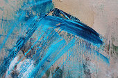 Abstract, blue, turqoise, white, beige acrylics painted background texture.