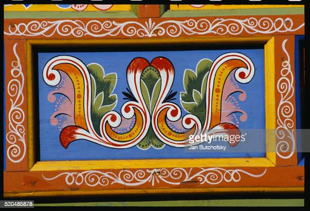 Detail of a Painted Ox Cart