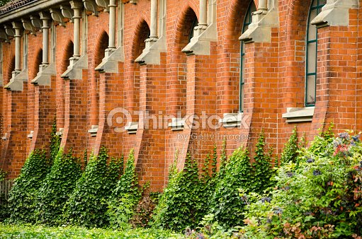 Detail Of A Red Brick Gothic Church Hannover Germany Stock Photo