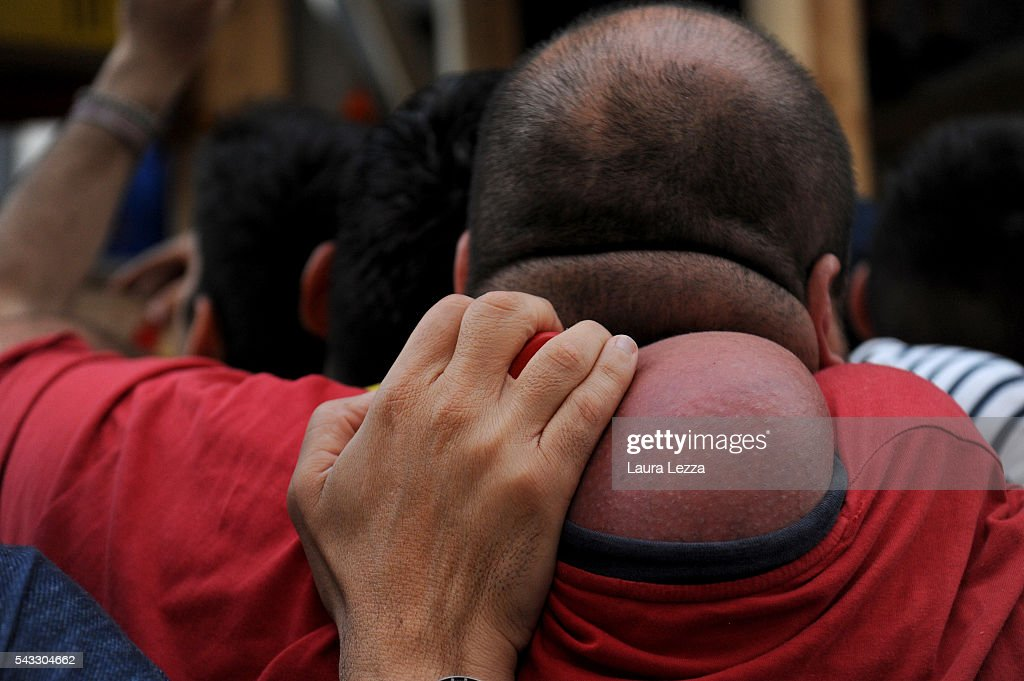 Detail of a shoulder strain called 'pataniello' caused by carrying a 25-metre tall wood and papier-mache statues called 'Giglio' during the annual Festa dei Gigli ('The Lily Festival') on June 27, 2016 in Nola, Italy. When St. Paolini, (355- 431 AD) the bishop of Nola, returned in a boat after freeing the town's men from captivity at the hands of the Saracens, he was welcomed by the population with lilies ('gigli'). To carry the Gigli, 128 men, called 'paranza,' shoulder one another and walk slowly through the town. In 2014 the famous festival became a UNESCO World Heritage site.