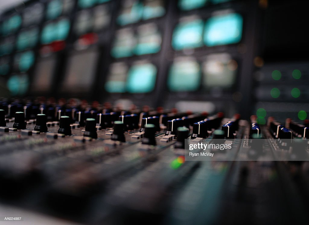 Detail of a Sound Mixing Board
