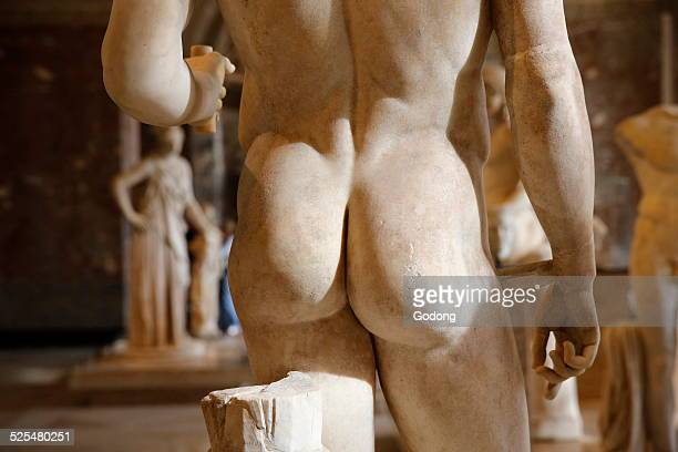 Detail of a statue in the Louvre museum