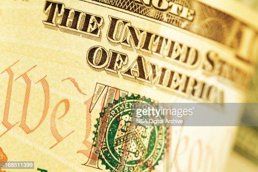 Detail of a Ten US Dollar Bill (High Resolution Image)