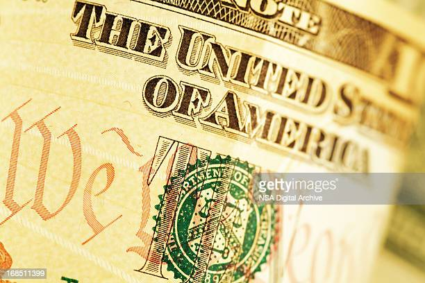 Detail of a Ten US Dollar Bill (High Resolution Image)