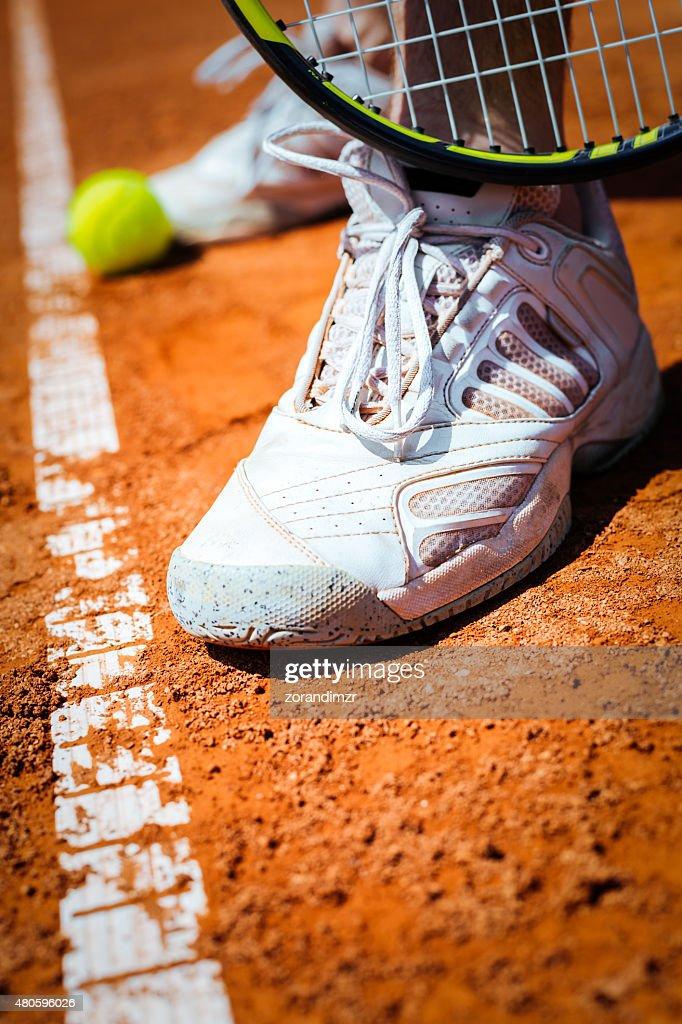 Detail of a tennis player leg : Stock Photo