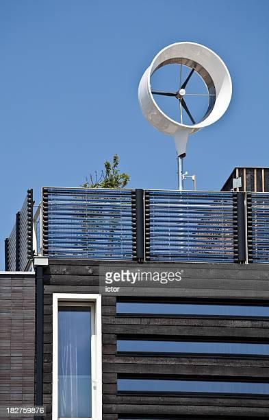 Detail of a zero energy house