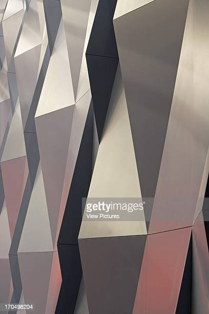Detail of acoustic paneling Kilden Performing Arts Centre Concert Hall Europe Norway ALA Architects