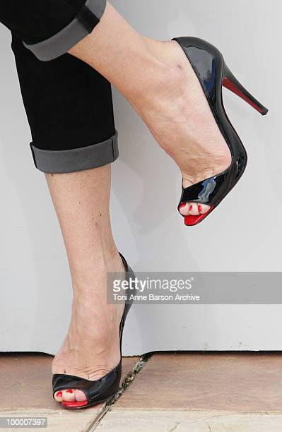 A detail of actress Geraldine Pailhas as she attends the 'Rebecca H ' Photo Call held at the Palais des Festivals during the 63rd Annual...