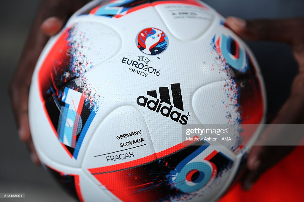 Detail of an adidas Fracas match ball during the UEFA Euro 2016 Round of 16 match between Germany and Slovakia at Stade Pierre-Mauroy on June 26, 2016 in Lille, France.