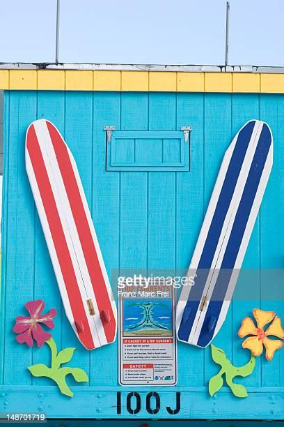 Detail of an Art-Deco lifeguard's hut, South Beach.
